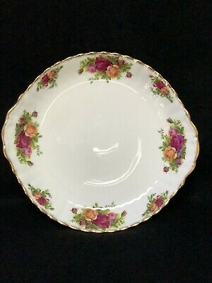 "Royal Albert Old Country Roses Handled Cake Plate 10.5"" England 1962"