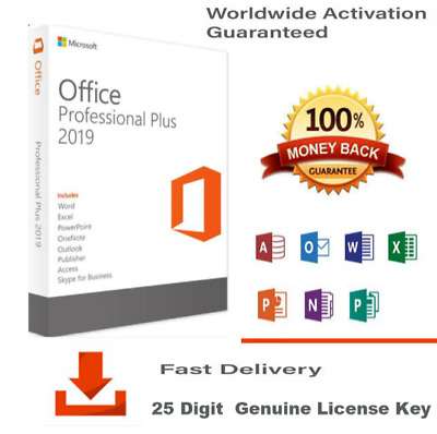 Microsoft Office 2019 Pro Plus Professional Product Key License Code-1PC-GENUINE