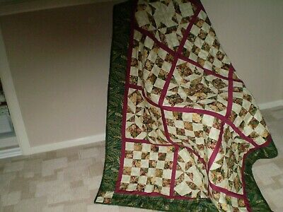 "Handmade Patchwork Quilt - Brand New- 45"" X 58"" From Australia"