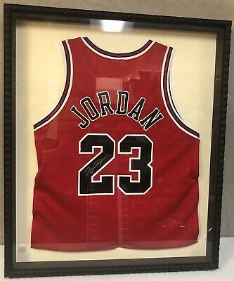 brand new 8c714 cb5f8 MICHAEL JORDAN SIGNED Jersey ~ Framed