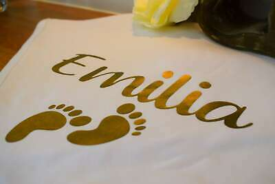 Personalised Super Soft Baby Blanket Christening Baptism Gift Baby Shower Gold