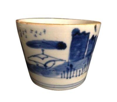 Antique japanese blue soba choko cup noodles broth soup b