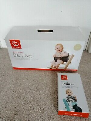 Brand New Stokke Tripp Trapp Baby Set Natural With Harness RRP86£