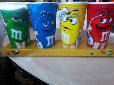 M&M 3D Character Cups 24oz Set Of 4