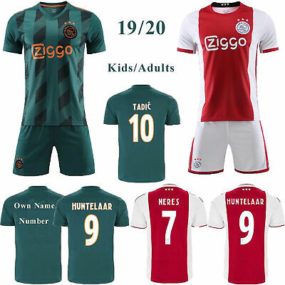 19-20 Soccer Home Red/ Away Blue Football Kits Kids/Adults Jersey Outfits Shirts