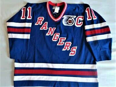size 40 0d841 4dc62 CCM AUTHENTIC NEW York Rangers Mark Messier Jersey vintage 90s 91-92 sz 54  rare