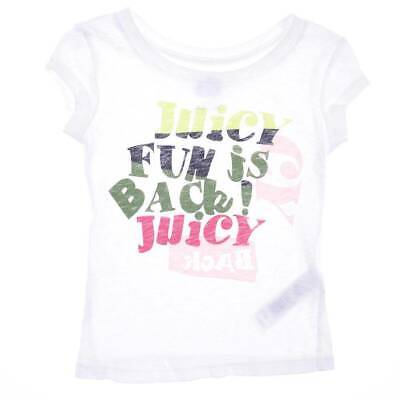 JUICY COUTURE  ~ Designer Girls SIZE 4 YEARS WHITE PRINT TEE SHIRT/ TOP  ~ NWT