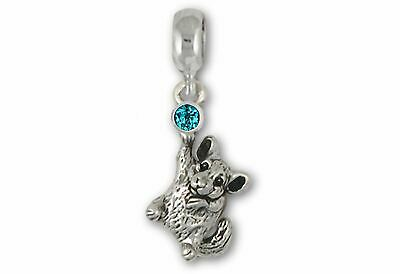 Chinchilla Jewelry Sterling Silver Handmade Chinchilla Charm Slide This Charm Wi