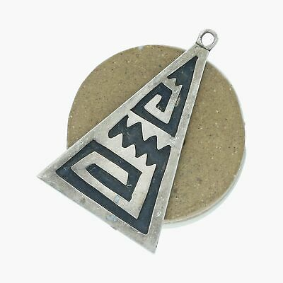 goodbyebabylon / sterling silver vintage overlay triangle / pendant (3.6g)