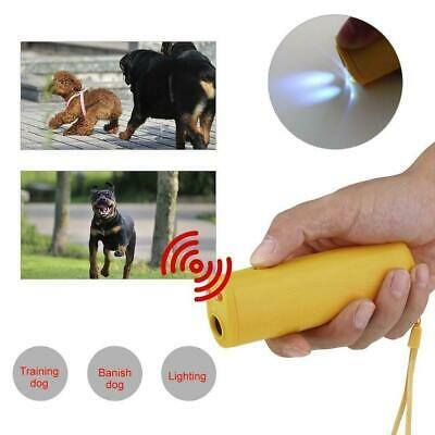 LED Dog Anti Bark Device Control Trainer Repeller Stop Barking Ultrasonic 3 In 1