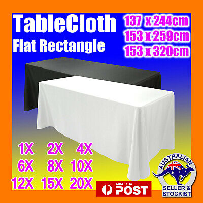 Tablecloths Black White Rectangle Wedding Table Cloths Market Trestle 4/6/8ft