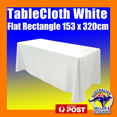 Tablecloths Wedding Rectangle White 8ft Flat Table Cloths Event Market Trestle