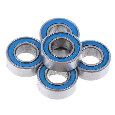 5Pcs Blue 4*8*3mm MR84RS MR84-2RS 4x8x3mm rubber sealed ball bearings 3T