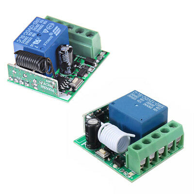 Universal RF 433Mhz Remote Control Switch 12V 1-Ch Relay Receiver Module Nuovo