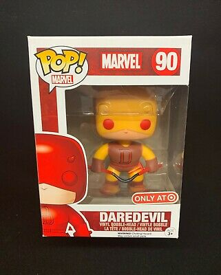 Funko Pop! Marvel Daredevil #90 SHELF WEAR Yellow Target Exclusive PROTECTOR!