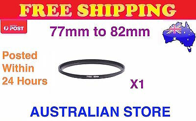 New 77-82mm 77mm-82mm Metal Step Up Lens Filter Ring Adapter - FAST FREE POST