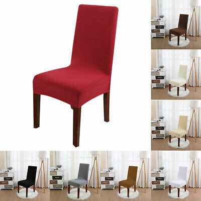 Reusable Stretch Spandex Simple Dining Chair Covers Wedding Banquet Seat Cover