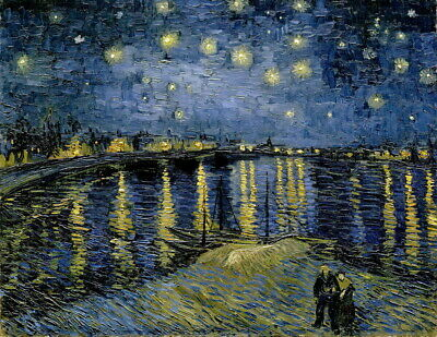 Vincent Van Gogh Starry Night Giclee Canvas Print Poster Reproduction