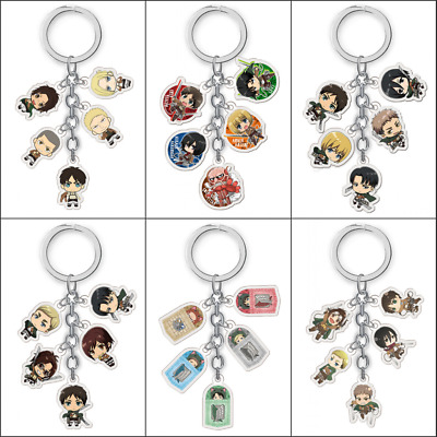Anime Attack on Titan Acrylic Keychain Keyring Cute Pendant Cosplay Gifts