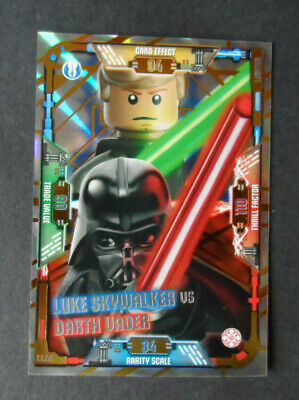 Le20-Luke Skywalker Vs DARK VADOR-édition limitée lego star wars cartes