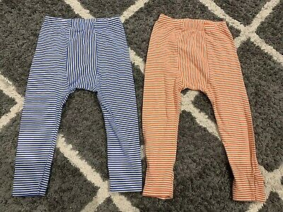 Bonds Boys Leggings Bundle Orange And Blue Stripe Size 2 💙❤️💙