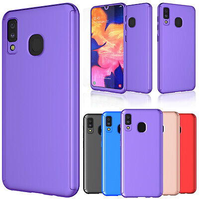 For Samsung Galaxy A20/A30/A50 Tempered Glass Screen Protector Case Full Cover