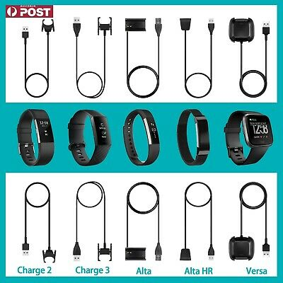 USB Charger Charging Cable for FitBit Charge 2/3 Alta HR/Alta Versa /Versa Lite