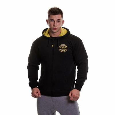 Golds Gym Mens Zip Through Hoody Muscle Joe Print Hooded Sweater Hoodie S-XL