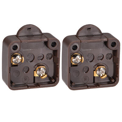 Wardrobe Door Light Switch Momentary Cabinet Switch NC 110-250V 2A Brown 2 Pcs