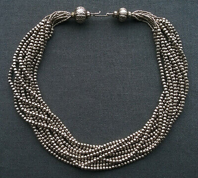"Sterling Silver Tribal Choker 17"" Native Very Heavy"