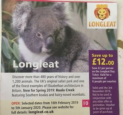 Longleat Safari Park Discount voucher! Save up to £12
