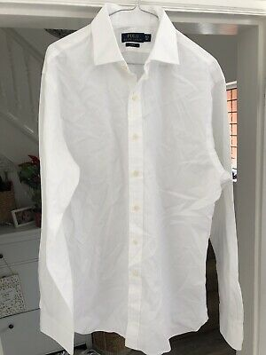 POLO Ralph Lauren Men's White Long Sleeve Shirt Size Slim Fit 16 1/2 - Slim Fit