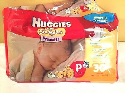 NEW HUGGIES LITTLE SNUGGLERS MICRO PREEMIE TO 4 PDS 10 DIAPERS  VERY TINY