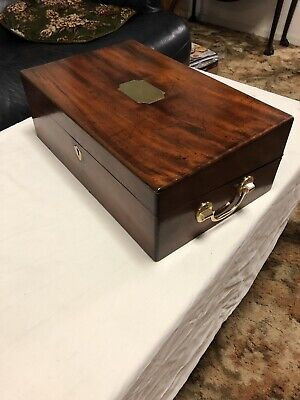 A188 Large Mahogany Writing Slope Box