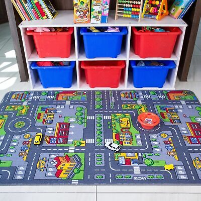 Childrens Kids Car Road City Town Circuit Play Mat Carpet Rug Toy Gift 140x200cm