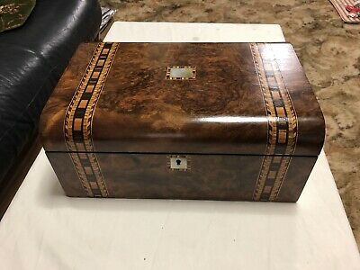 A190 Large Walnut Domed Writing Slope Box