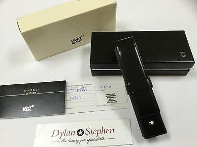 montblanc Meisterstuck range black leather one pen pouch + boxes