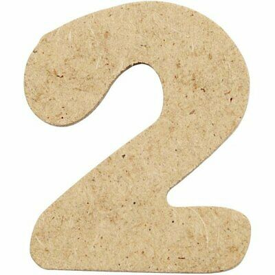 4cm MDF Number 2 (Pack of 10)