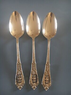 Rose Point By Wallace Sterling Oval Soup Spoon Table Serving 7""