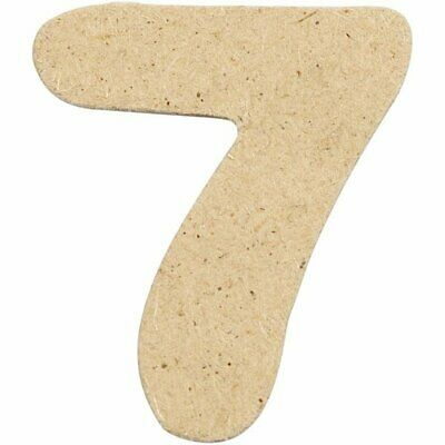 4cm MDF Number 7 (Pack of 10)