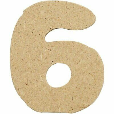 4cm MDF Number 6 (Pack of 10)