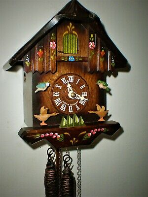 Hurbert Herr Cuckoo Clock, Black Forest, with Animated Moving Birds