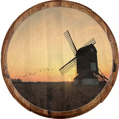 LIFE IS BETTER ON THE FARM WINDMILL TABLE SIGN - Rustic