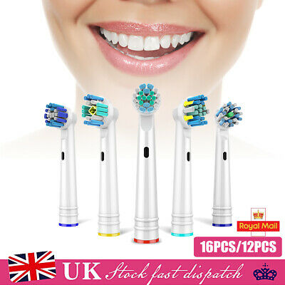 16Pcs Electric Toothbrush Replacement Heads Compatible With Oral B Braun Models