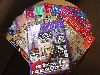 Period Living Magazine 2005 complete set without May - 11 issues