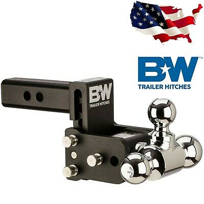 "B&W Trailer Hitches TS10047B Tow and Stow Hitch Ball Mount 3"" Drop For Tri-Ball"