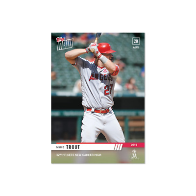 2019 Topps NOW 717 Mike Trout Los Angeles Angels [8.20.19]