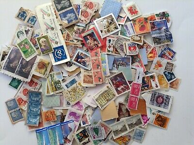 WW KILOWARE USED STAMPS 333 GRAMS ON PAPER about 1500 stamps