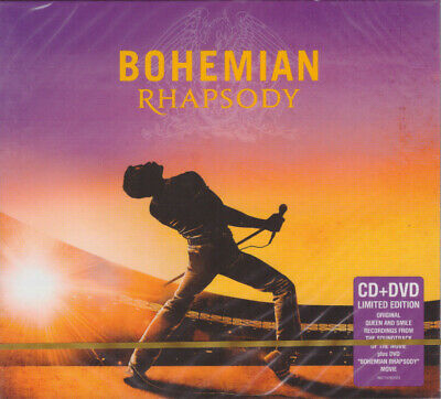 BOHEMIAN RHAPSODY OST Soundtrack CD+DVD Rami Malek QUEEN Freddie Mercury B. May