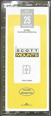 Scott/Prinz Pre-Cut Strips 265mm Long Stamp Mounts 265x25 #1035 Black
